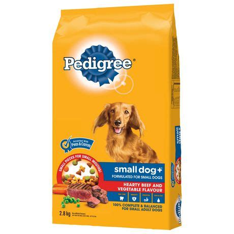 Pedigree Beef Vegetable pedigree 174 small hearty beef and vegetable flavour 2 8kg walmart canada