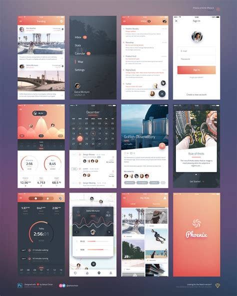 ios design templates beautiful ios app ui screens free psd psd