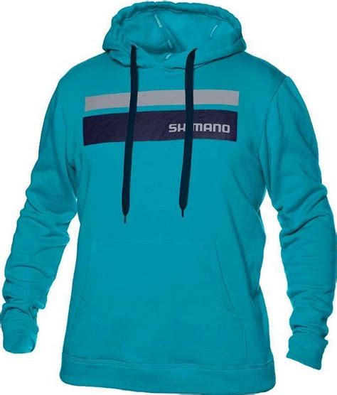 Hoodie Shimano shimano corona pullover hoodie cyan tackledirect