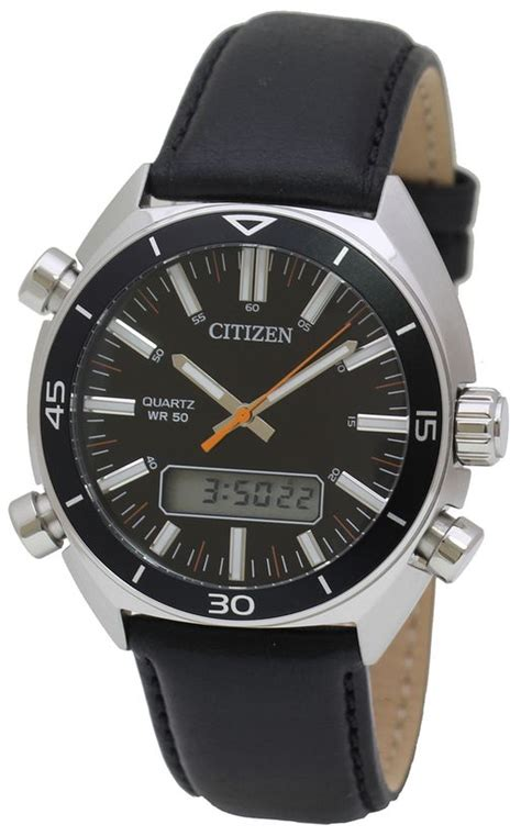 s citizen digital analog black jm5460 01e