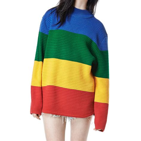 rainbow sweater aliexpress buy unif crayola sweater rainbow color