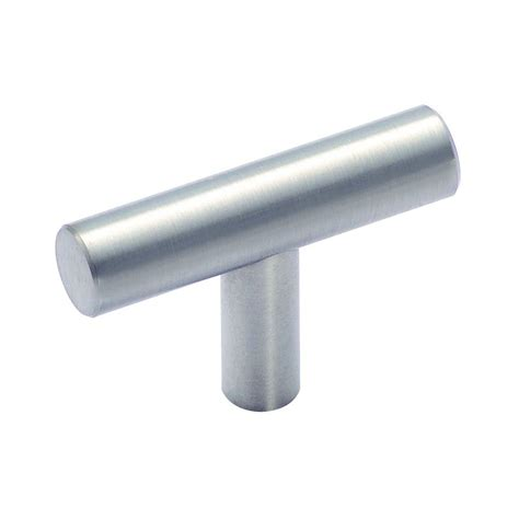 Kitchen Cabinet Hardware Lowes Shop Amerock Stainless Steel Stainless Steel Rectangular Cabinet Knob At Lowes