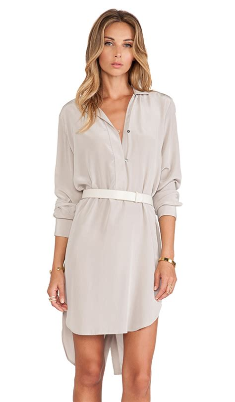 heritage sleeve shirt dress with belt in