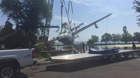 boat crash winnebago seaplane removed from lake winnebago wluk