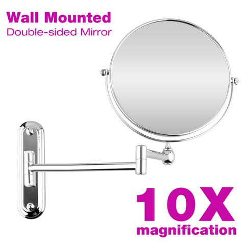 bathroom shaving mirrors wall mounted 10x magnification wall mounted extending makeup vanity