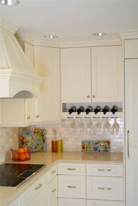 traditional kitchen  stone tile flat panel cabinets