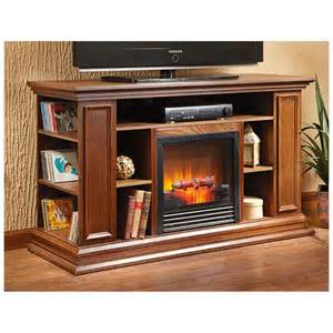 furniture oak electric fireplace tv stand with media