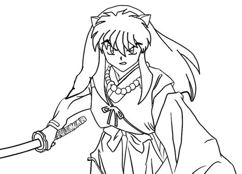 Inuyasha Coloring Pages Free Printable Inuyasha Coloring Pages For Kids