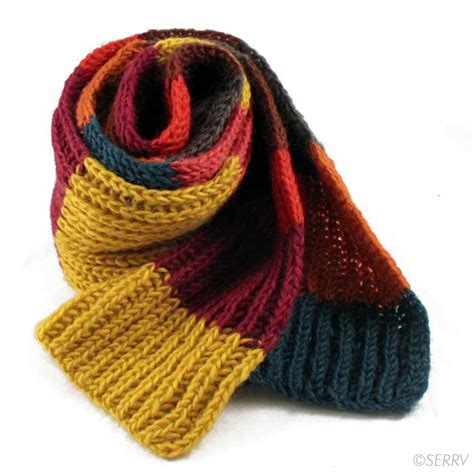 winter knits warm wooly scarf