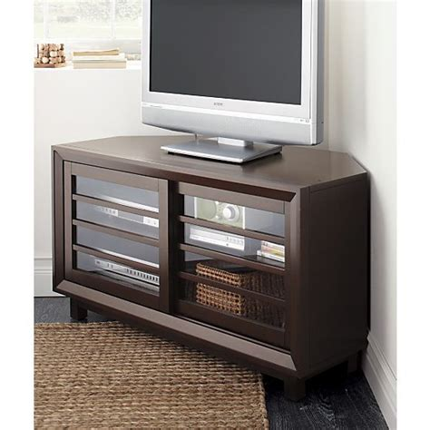 corner media tower cabinet farrow 44 quot corner media console in media stands consoles
