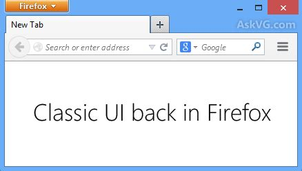 firefox ui themes tip get classic theme and features back in mozilla