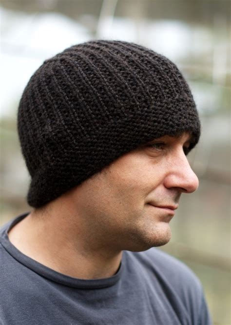 free knitting pattern mens beanie geko beanie woolly wormhead