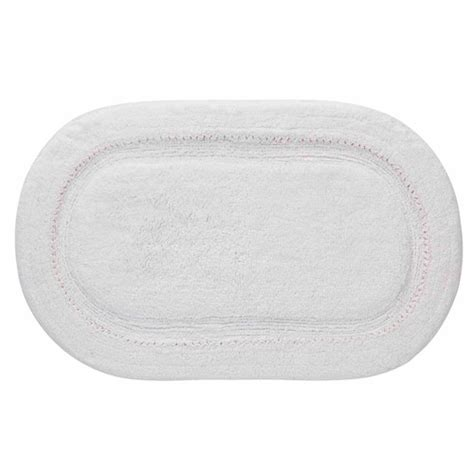 oval bathroom rugs ruffles oval bath rug white 1 9 quot x 2 4 quot walmart