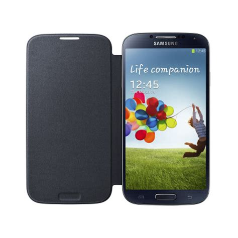 galaxy s4 cover genuine samsung galaxy s4 flip cover black