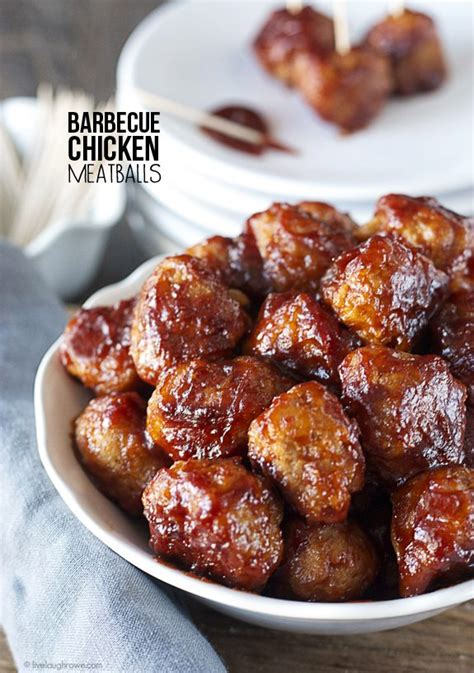 barbecue chicken meatballs  laugh rowe
