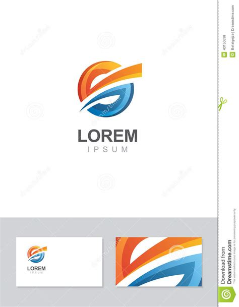 business card template with mascot abstract logo design template with business card royalty