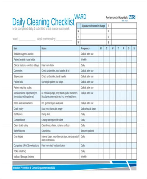32 Checklist Templates In Pdf Free Premium Templates Daily Cleaning Checklist Template