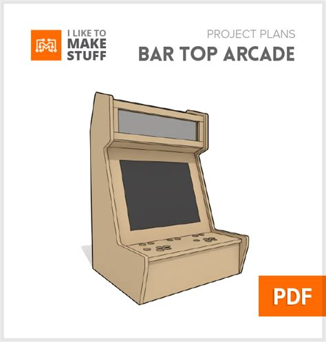bartop arcade cabinet dimensions bar top arcade digital plan i like to stuff