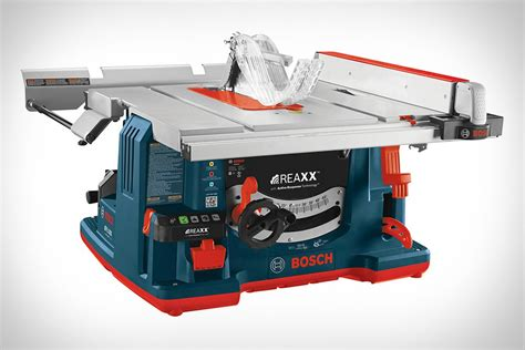 bosch bench saw bosch reaxx portable jobsite table saw uncrate
