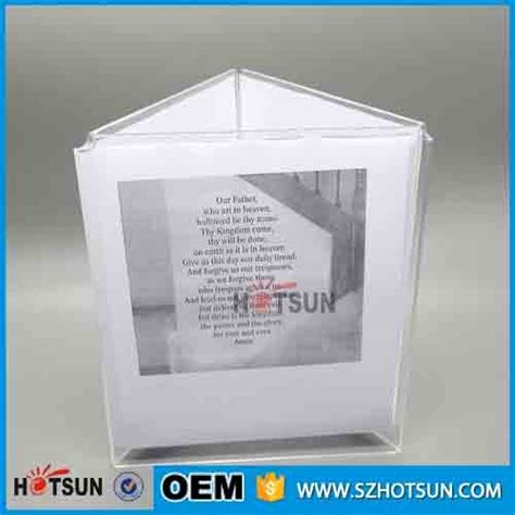 Acrylic Menu plastic 3 sided acrylic bar menu holders table stand menu holder