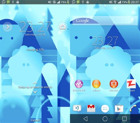 android themes preview install xperia android l theme with android l background