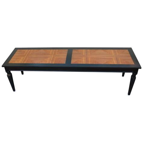 Parquet Coffee Table Luxe Parquet And Ebonized Modern Two Tone Coffee Table By Baker For Sale At 1stdibs