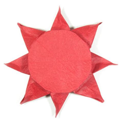 Origami Sun - how to make an origami sun page 1