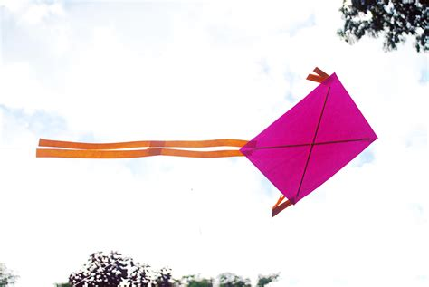How To Make Paper Kites Step By Step - how to make a kite easy 5 steps wikihow