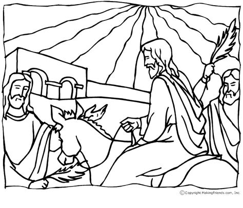 1000 Images About Kleurplaten Paasverhaal On Pinterest Palm Sunday Coloring Page