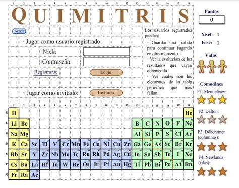 preguntas faciles sobre la tabla periodica cinco juegos online para aprender la tabla peri 243 dica