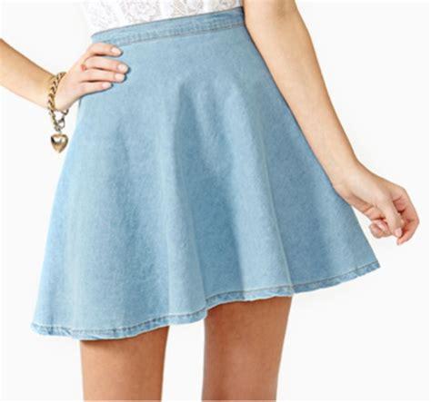 light blue skater skirt skirt skater skater skirt flare denim chambray light