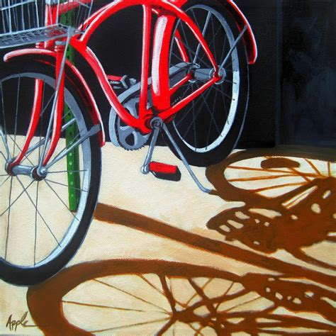 bike painting painting a day original paintings on canvas