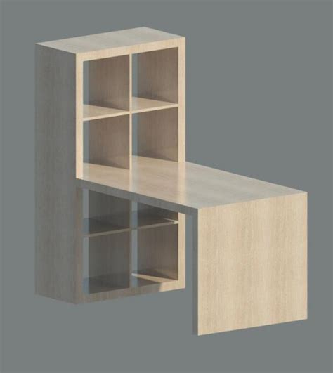 Expedit Desk by Revitcity Object Expedit Shelving With Desk