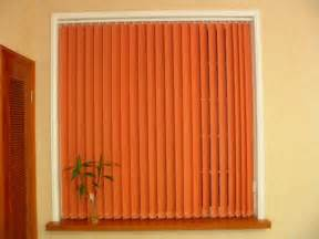 amazing Window Curtain Designs Photo Gallery #4: unique-orange-vertical-window-blinds.jpg