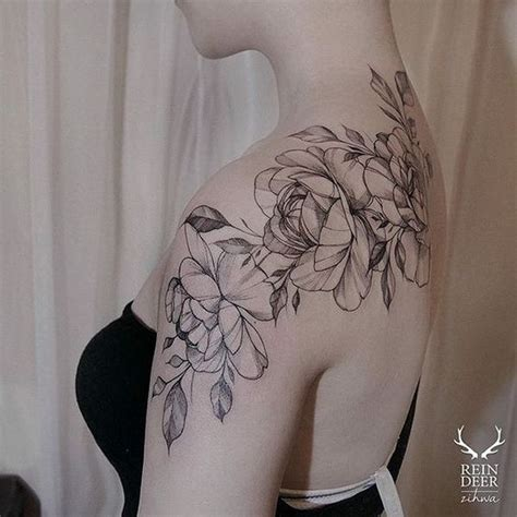 pretty flower tattoos 10 best ideas about black flower tattoos on