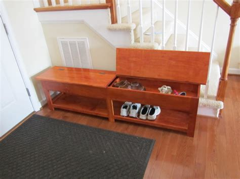shoe storage bench with doors brown stained wooden walk in closet with small shoe