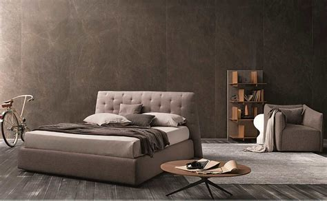 modern taupe gray fabric bed nj contemporary bedroom