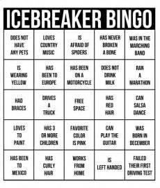 breaker bingo template 9 best get to someone bingo images on