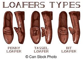 different types of loafers brogue illustrations and stock 143 brogue