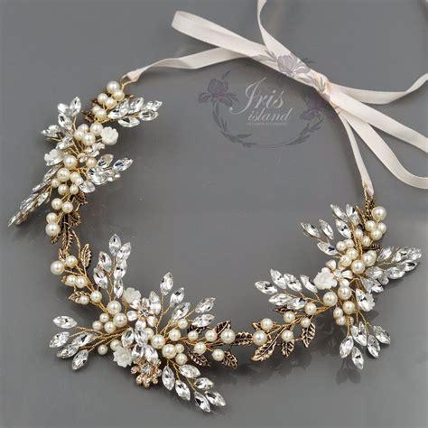wedding accessories wedding favours bridal accessories crystal pearl flower headband headpiece tiara bridal