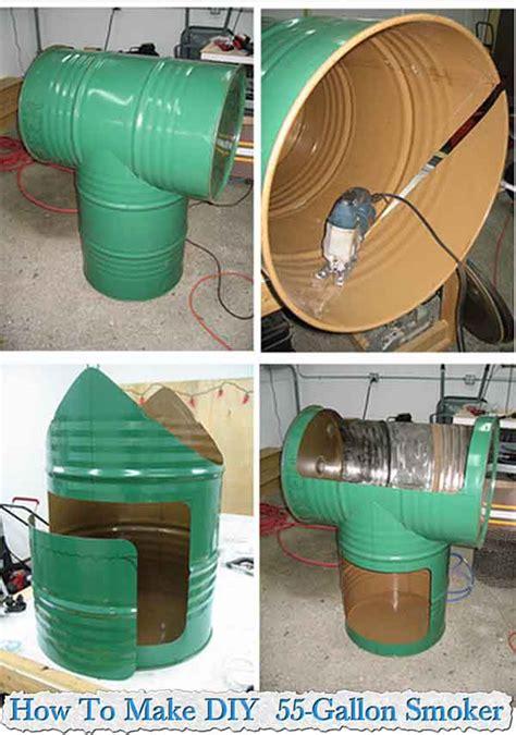 how to make diy 55 gallon smoker