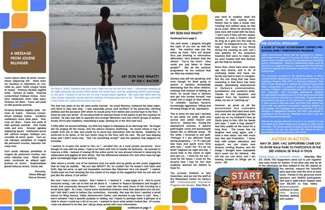 newsletter template for pages best photos of two page newsletter template pages