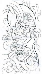 Snake with rose snake tattoo design art flash pictures images