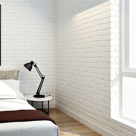 S2560 Border Sticker Dinding Wood List Wall List Bersteksur 10cm 5m Aliexpress Buy 10m Modern 3d Brick White Non Woven