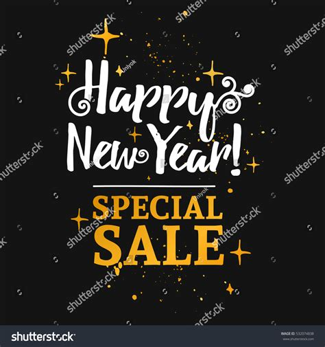 new year sale vector template design banner sales happy stock vector