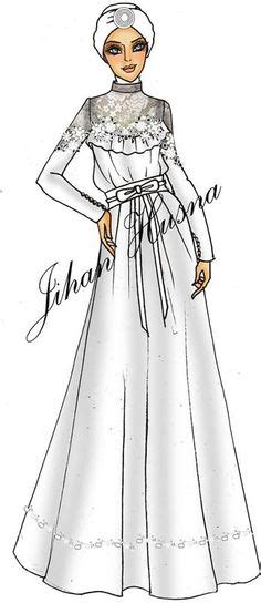 desain dress sketsa hijab fashion illustration fashion illustration
