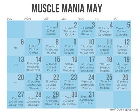 Monthly Workout Calendar 3 Month Workout Plan Month Workout Plan Daily
