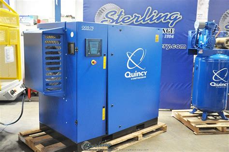 320 cfm brand new quincy rotary air compressor with sound enclosure mdl qgs 75 standard