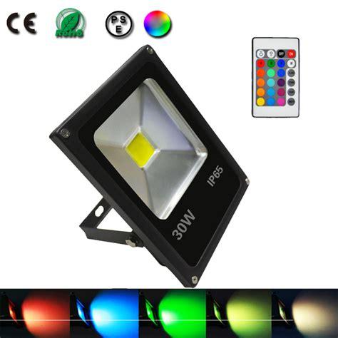 livraison gratuite projecteur exterieur noir rgb led 30w epistar avec t 233 l 233 commande spot 224 led