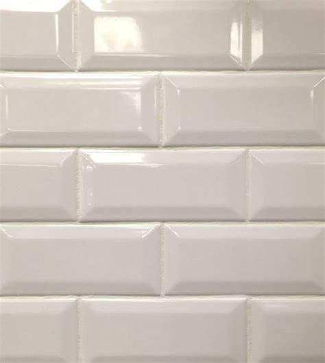 white beveled subway tile our new home pinterest